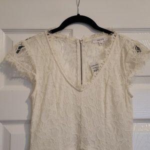 White/Ivory Lace Mini Dress